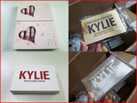 Wholesale kylie birthday edition matte lipstick for sale - Group buy Kylie Lip Gloss Lord Metal Gold the Limited Edition Birthday CONFIRMED Matte Lipstick lip Kit Cosmetics liquid lipsticks set