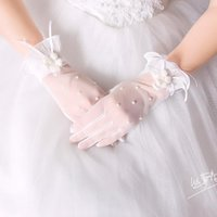 Wholesale accessories white short dress for sale - Group buy Bridal wedding gloves short paragraph autumn and winter wedding gloves dress accessories accessories pearl