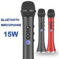 mikrofonları çal toptan satış-Müzik Çalma Hoparlör L-698 Profesyonel 15W Taşınabilir USB Kablosuz Bluetooth Karaoke Mikrofon Hoparlör Ev KTV