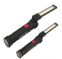 ingrosso osram ha condotto le luci di nebbia-Vendita calda 5 Modalità COB Torcia Torcia USB Ricaricabile Lampada da lavoro a LED Lanterna magnetica Appesa Lampada a sospensione Lampada da lavoro a LED da campeggio all'aperto