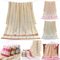 küçük yüz havlusu toptan satış-Pamuk Banyo Havlusu Bambu Elyaf Yağmur Damlası Küçük şemsiye yumuşak hediye havlu Kalınlaşmak Su emme Yüz havlusu Tekstil DHL HH7-2055