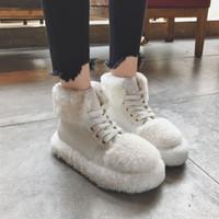 botas de neve meninas sexy venda por atacado-Venda quente-Inverno Ankle Boots de Neve Para As Mulheres Sexy Plataforma Macio Botas Mulher Marca Casual Moda Menina Andando Mulheres Inverno
