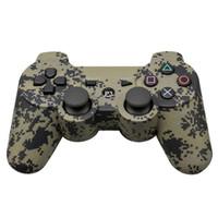 jogo duplo venda por atacado-Game Controller sem fio Gamepad Bluetooth para PS3 2.4GHz Duplo Choque para para PlayStation 3 PS3 Joysticks gamepad com caixas de transporte gratuito