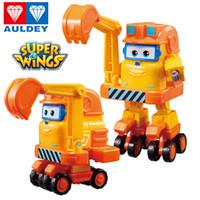 Wholesale china scoop for sale - Group buy AULDEY Super Wings Cartoon Robot Scoop Flip Kim Jett In Built Mira Action Figures Kids Designer Brand Toys Desform Kids Xmas Gifts