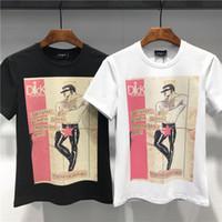 t-shirt super achat en gros de-Lettre T-shirt DQ Super Saiyan Goku Golden Eyes Haut Élastiqué Slim Shirt Fitness Cosplay T-Shirt Haut M-3XL