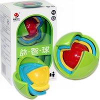 3d maze ball kids venda por atacado-Sabedoria bola 3d inteligência magaic ball game puzzle bola brinquedos educativos para crianças qi blocos de treinamento brinquedo inteligente labirinto diy presente crianças brinquedos