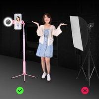 selbststichhalter großhandel-Ausziehbarer Selfie-Stick Mini-Selbstauslöser-Stativhalterung Fashion New Tripod Selfie-Stick