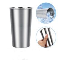 tazas de pintas al por mayor-350 ml / 500 ml tazas de acero inoxidable tazas de viaje de metal vaso vasos de pinta tazas tazas acampar al aire libre beber café té cerveza