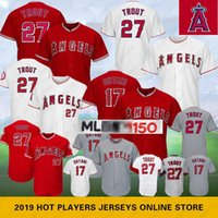 c2876cb7c1c Angels 27 Mike Trout #17 Shohei Ohtani 28 Nolan Arenado Los Angeles 150th  Anniversary Baseball Jersey Mens Stitched
