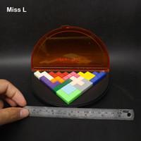 iq cubes toys großhandel-Bunte Kunststoff IQ Puzzle Pyramide Weisheit Cube Kinder Intelligenz Spielzeug Kid Game