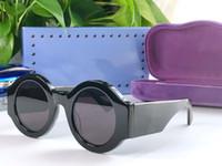 senhoras tops completo venda por atacado-novos óculos escuros de grife de venda populares para mulheres homens 0629 placa redonda estrutura completa de alta qualidade moda senhora estilo generoso lente uv400