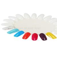 ingrosso cina chiodi di acciaio inossidabile-3PCS / Set Puntali bianchi per unghie finte Cartella colori a forma di girasole Mostra modello di campioni in plastica Art Practice Display