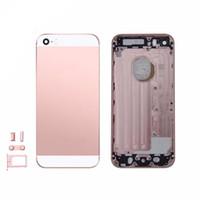 ingrosso barra del telaio della porta-Custodia posteriore in metallo Custodia posteriore per iPhone 5 SE Telaio posteriore Porta batteria Cover Case con Sim Card