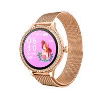 diseños de monitores al por mayor-Diseñado para Smart reloj de señora Wearable M8 ritmo cardíaco monitor de presión arterial banda de acero inoxidable resistente al agua para iPhone Pro Max 11 mujeres Girs