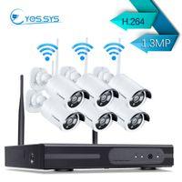 8ch nvr cctv ip kamerasysteme großhandel-eyes.sys 6PCS 1.3MP Wifi Camera Wireless HD 8CH 1080P NET NVR Kit Videoüberwachung Smart Home Sicherheit IP-CCTV-Kamera-System