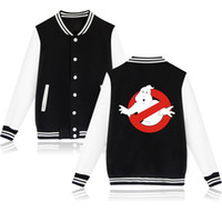 Wholesale character jackets for sale – winter Wintet Mens Bomber Jackets Movie Ghostbusters Baseball Jacket Outerwear Ghost Busters Men Hoodies Sweatshirts Cosplay Anime