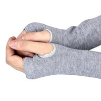 3cb9c530e38830 lange fingerlose armwärmer großhandel-Winter-Handgelenk-Handwärmer  gestrickter langer fingerloser Armstulpen-Handschuh
