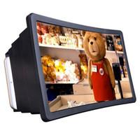 display handy iphone großhandel-F2 Universal Handy Smartphone Ständer Halter Bildschirm Vergrößerungsglas Lupe für 3D Film Video Display Projektor für Iphone Samsung