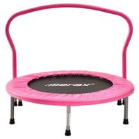 Wholesale indoor trampoline resale online - Merax Children Mini Folding Trampoline Indoor Fitness Training Equipment Pink