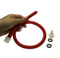 analsex reinigung spielzeug großhandel-50 cm lang weiches Silikon-Analreinigungsrohr Einlauf Analsex Spielzeugdüse Zubehör Duschkopf Vaginalreinigung Analeinlaufrohr