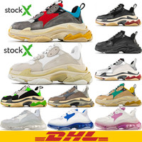 Wholesale casual shoes men s for sale - Group buy DHL Triple s fashion Paris FW Triple s Sneakers for men women black red white green Casual Dad Shoes tennis increasing