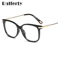 313f54f8a6 Ralferty Elegant Ladies Glasses Frame Gafas de montura cuadrada de gran  tamaño para lentes de prescripción miopía óptica personalizada F95156