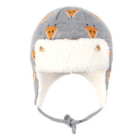 Wholesale baby earmuffs hat for sale - Group buy Kids Warm Hat Cotton Caps Animal Jacquard Knitted Earmuffs Plus Velvet Thickening Cap Cute Lei Feng Hats Baby Gift N4Z