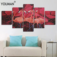 Wholesale wall art cartoon paintings for bedroom for sale - Group buy New Animals Cartoon Canvas Painting Flamingo Posters Prints Nordic Minimalist Nursery Wall Art Picture for Kids Room Home Decor