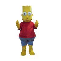 ingrosso partito di tema giallo-Simpson Mascot Costumes Animated theme yellow boy Cartone animato mascotte Personaggio adulto Halloween Carnevale festa Costume