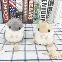kawaii do rato venda por atacado-Hamster Chaveiros Crianças Kawaii Bonito Dos Desenhos Animados Hamster De Pelúcia Animal Pequenas Bonecas Hamster Stuffed Mouse Bag Pingente Lembranças CCA11803 60 pcs