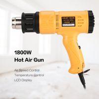 ingrosso vernice lcd-1800W LCD digitale calda pistola elettrica dell'aria di calore della temperatura della ventola regolabile Shrink sverniciatore della ripresa di fai da te Tool + ugello