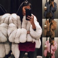xl peluches venda por atacado-YJSFG CASA Mulheres Casaco De Pele de Inverno Quente de Pelúcia Casaco De Pelúcia Famosa Marca Casaco De Pele Feminino Engrossar Falso Outwear