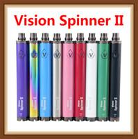 baterías evod al por mayor-Vision Spinner 2 batería 1600 mah evod Twist 3.7V - 4.8V Vision Spinner II Batería Voltaje variable Para 510 hilos Atomizador ETS protank 3