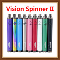 vision spinner zerstäuber großhandel-Vision Spinner 2 Batterie 1600mAh evod Twist 3,7V - 4,8V Vision Spinner II Batterie mit variabler Spannung Für 510er Zerstäuber ETS Schutz 3