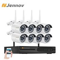 sistema de cámara de vigilancia para el hogar de 8 canales. al por mayor-Kit de sistema de seguridad para cámara CCTV Jennov 8CH 1080P NVR Wifi Videovigilancia 2MP Seguridad doméstica Cámara inalámbrica Waterpoof HD P2P