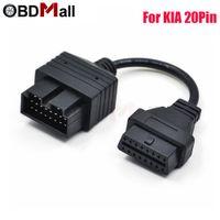 ingrosso lettori di codice pin obd-Per KIA 20 PIN a 16 PIN Adattatore OBD2 Connettore femmina Strumento diagnostico Lettore codice Cavi adattatori Per KIA 20 OBD a OBD 2