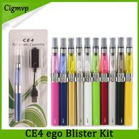 ego kit ce4 zerstäuber elektronische zigarette großhandel-Ego Starter Kit CE4 Zerstäuber Elektronische Zigarette E-Zigarette Kit 650mAh 900mAh 1100mAh EGO-T Batterie Blister Clearomizer E-Cig Vs Evod