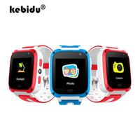 ingrosso guardare gsm sos-T10 Smart Children Guarda Fashion Casual 1.44 pollici Touch Screen Cinturino in silicone LBS GSM Orologio da gioco con allarme SOS