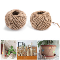 100m--2ply Jute Twine Sisal String Soft Natural Brown Burlap Hessian Rustic Cord