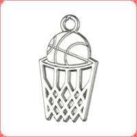 gold silber körbe großhandel-30 stücke Antike vintage Tibetischen silber gold Basketball Korb charme baumeln legierung anhänger für halskette armband ohrring diy schmuck machen