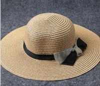 складная большая шляпа солнца оптовых-Летом пляж складной зонтик шляпа открытый пляж большой соломенной шляпе леди солнцезащитный шлем