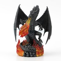 ingrosso scultura statua d'arte-Body Art Willoni Willoni Desktop Decorazione Fire Dragon Sculpture Resina Regalo Creativo Art Home Scultura Articoli Regalo di Compleanno Home Statue