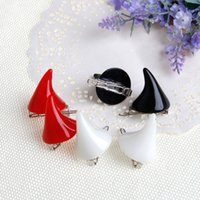 Wholesale devil ears for sale - 2Pcs Women Chic Halloween Stereo Devil Horns Ears Clip Hairpin Hair barrettes