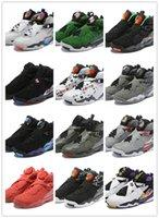 viii basketbol toptan satış-TÜM Renkler Yeni 8 VIII kırmızı siyah mavi gri gümüş 8 s düşük erkekler basketbol ayakkabı spor sneakers açık eğitmenler yüksek kalite boyutu 7-13