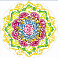 ingrosso grandi palle rotonde-Telo mare Tassel Print Scialle Poligonale Purple Ball Sand Stampa Lotus Colorful Round Super Large Water Assorbimento 24