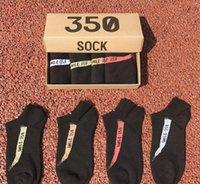atletizm terliği toptan satış-Çorap Düşük Kesim Pamuk Ayak Bileği Çorap Erkekler Spor Çorap Kısa Atletik Terlik Çorap Kutu Başına 4 Pairs 20 grup CNY753