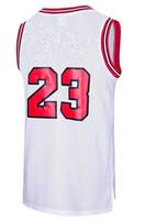 retrocesso swingman camisolas venda por atacado-Esportes Tank Tops Camisas # 23 Throwback Swingman Clássicos Jersey Vermelho Preto Branco Stripe Costurado EUA STOCK