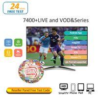 iptv arapça kanallar toptan satış-IPTV abonelik Android APK Smart TV Mag25X IOS M3U Bayi paneli ABD İngiltere Kanada Fransa Arapça 30+ ülkeler TV BOX için kanalı IPTV
