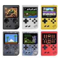 pantalla para consola al por mayor-Retro Mini juegos de video portátiles Consolas de juegos portátiles Jugador de 3,0 pulgadas Pantalla LCD Consola de juegos de bolsillo Bulit en 168 juegos