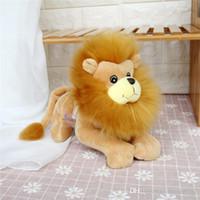 animales del bosque de peluche al por mayor-20170625 20cm Lovely Doll Simulation Lion Plush Toy Forest Animal Navidad Niños Día Cumpleaños Niños Regalo